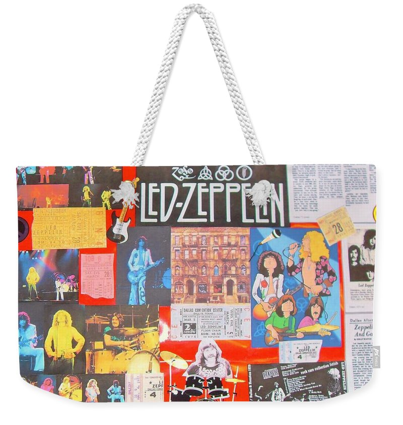 Led Zeppelin Weekender Tote Bag featuring the photograph Led Zeppelin Color Collage by Donna Wilson