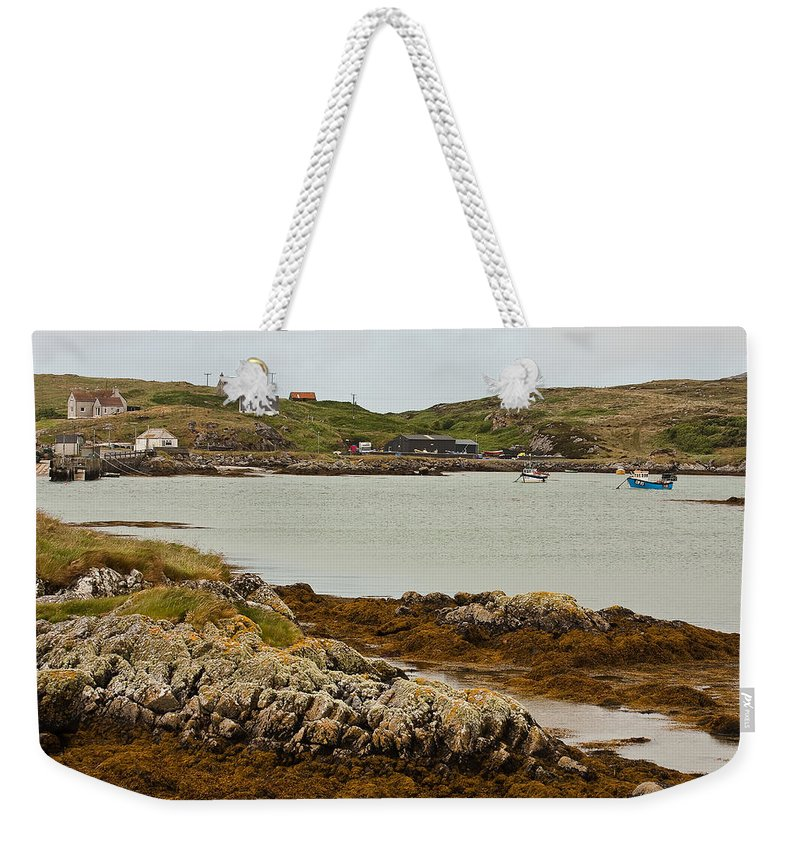 Scotland Weekender Tote Bag featuring the photograph Ledaig Harbour by Colette Panaioti