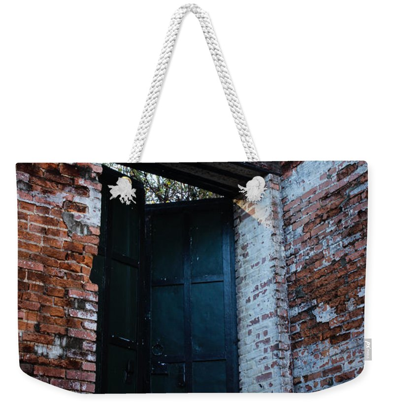Old Weekender Tote Bag featuring the photograph Left The Building by Marnie Patchett