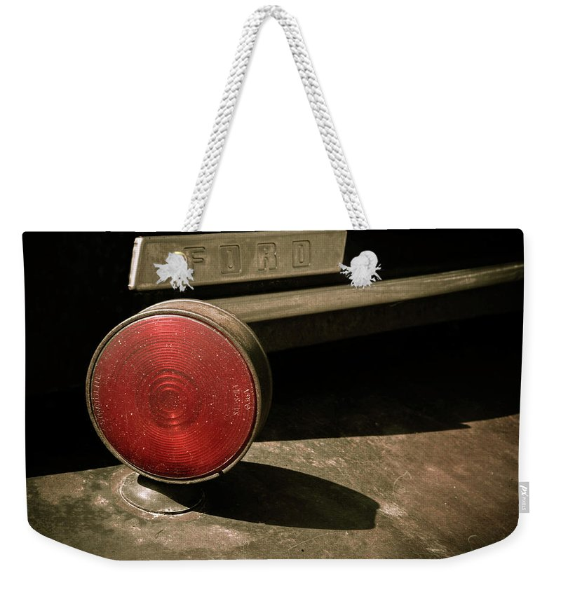 Car Weekender Tote Bag featuring the photograph Left Turn Signal by Marilyn Hunt