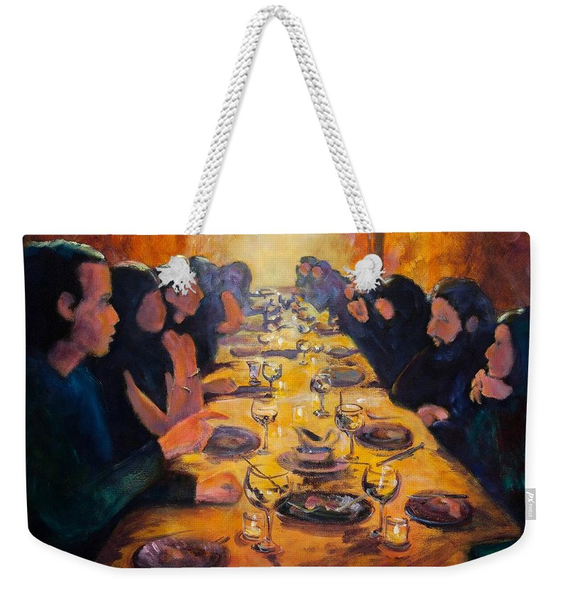 Food Weekender Tote Bag featuring the painting Leftovers by Jason Reinhardt