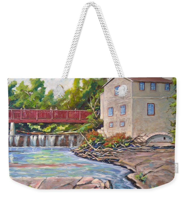 Mill Weekender Tote Bag featuring the painting Legare Mill by Richard T Pranke