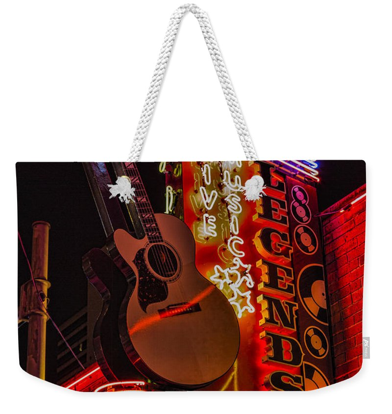 Nashville Weekender Tote Bag featuring the photograph Legends Corner Nashville by Stephen Stookey