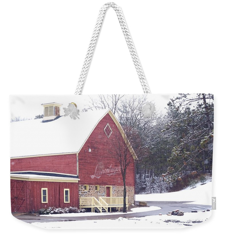 Barn Weekender Tote Bag featuring the photograph Leinie by Tim Nyberg