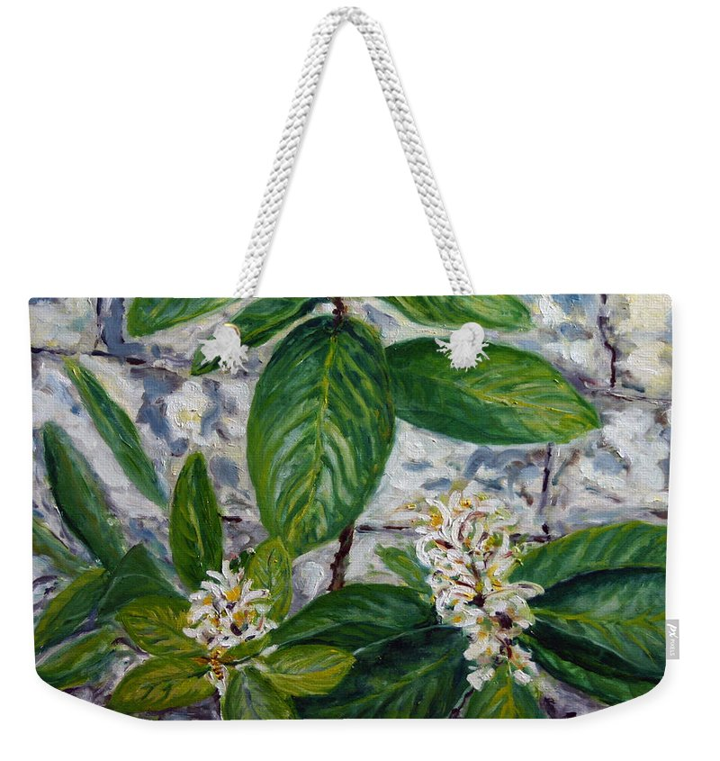 Landscape Weekender Tote Bag featuring the painting Lemon Tree by Pablo de Choros