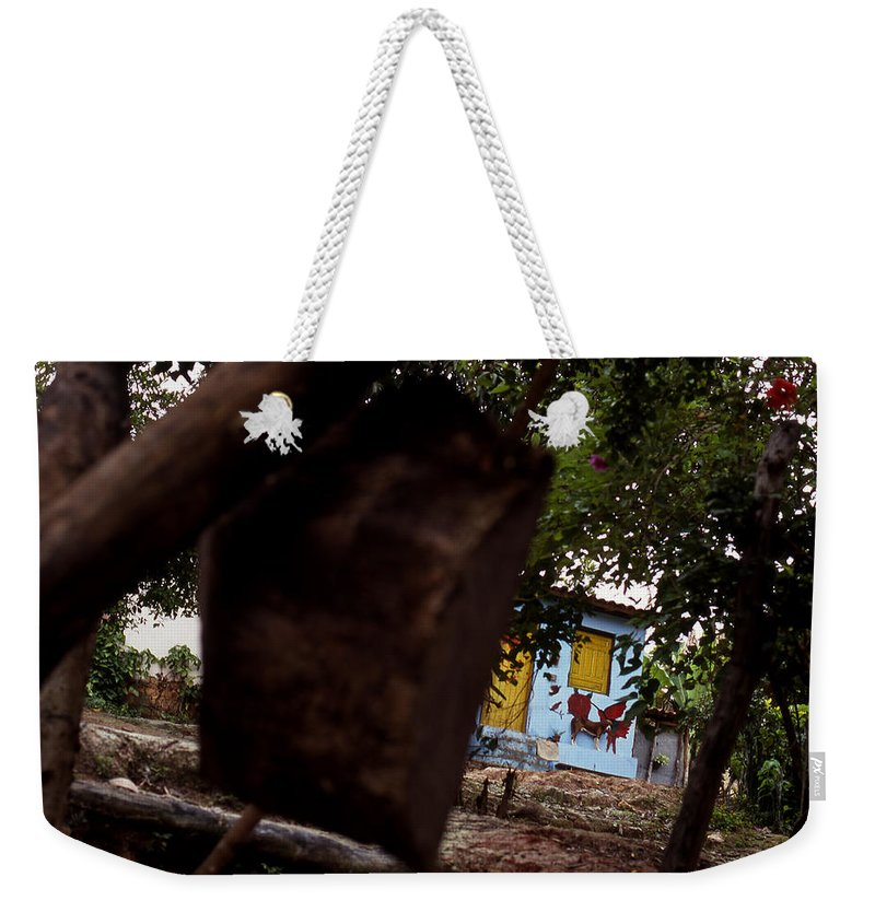 Dog Weekender Tote Bag featuring the photograph Lencois - Dog by Patrick Klauss