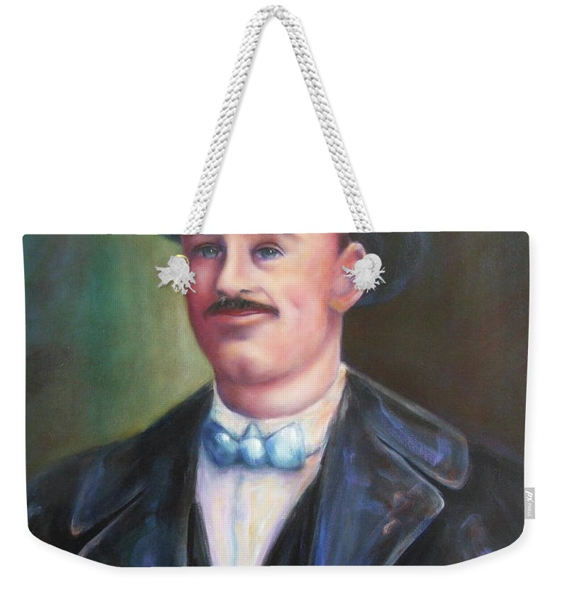 Portrait Weekender Tote Bag featuring the painting Leonard McKay by Shannon Grissom