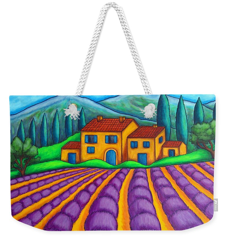 Provence Weekender Tote Bag featuring the painting Les Couleurs De Provence by Lisa Lorenz