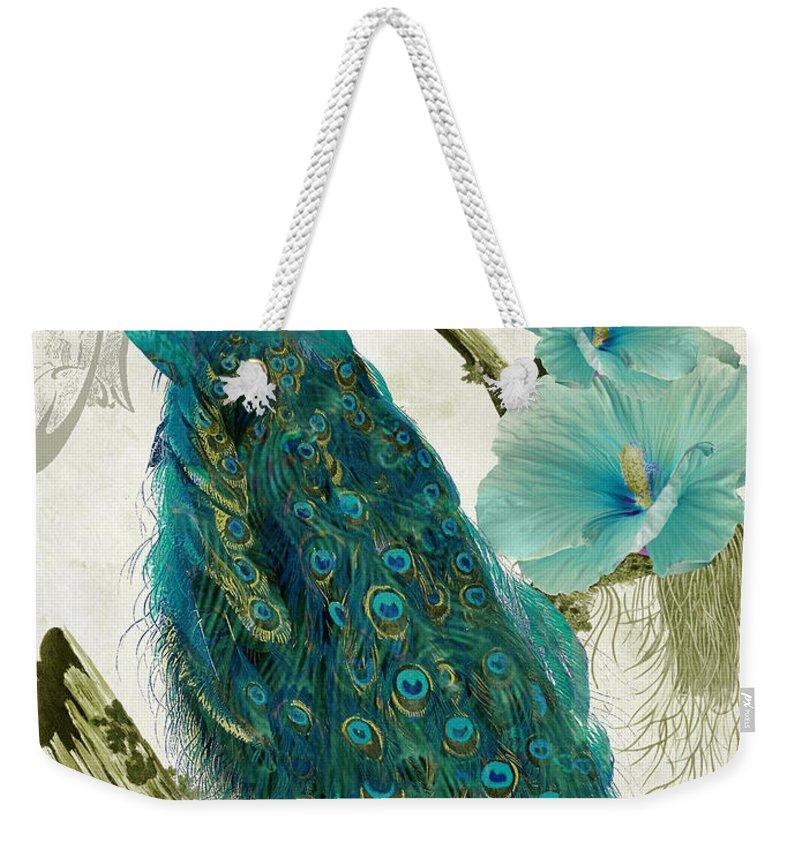 Peacock Weekender Tote Bags