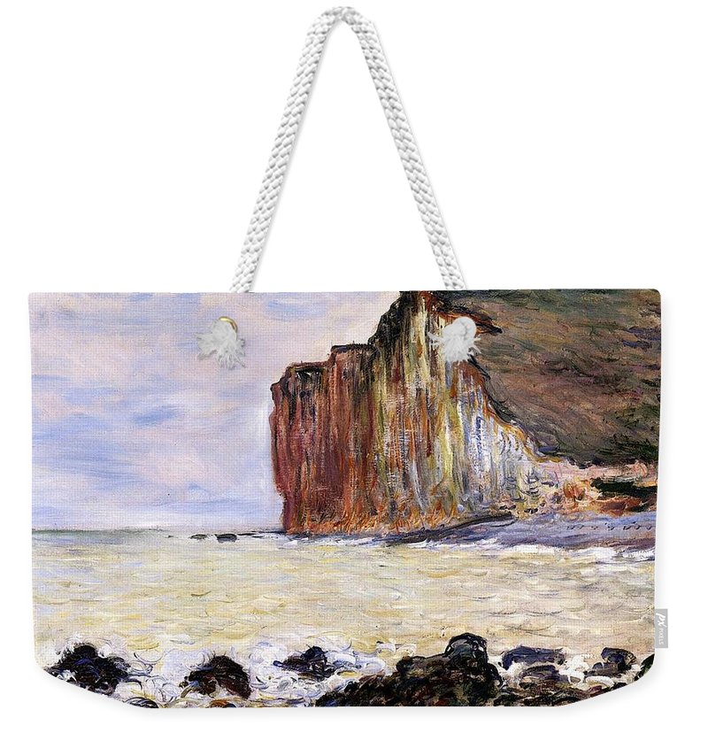 French Weekender Tote Bag featuring the painting Les Petites Dalles by Claude Monet
