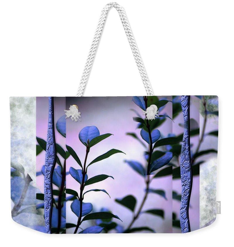 Purple Weekender Tote Bag featuring the digital art Let Free The Pain by Vicki Ferrari