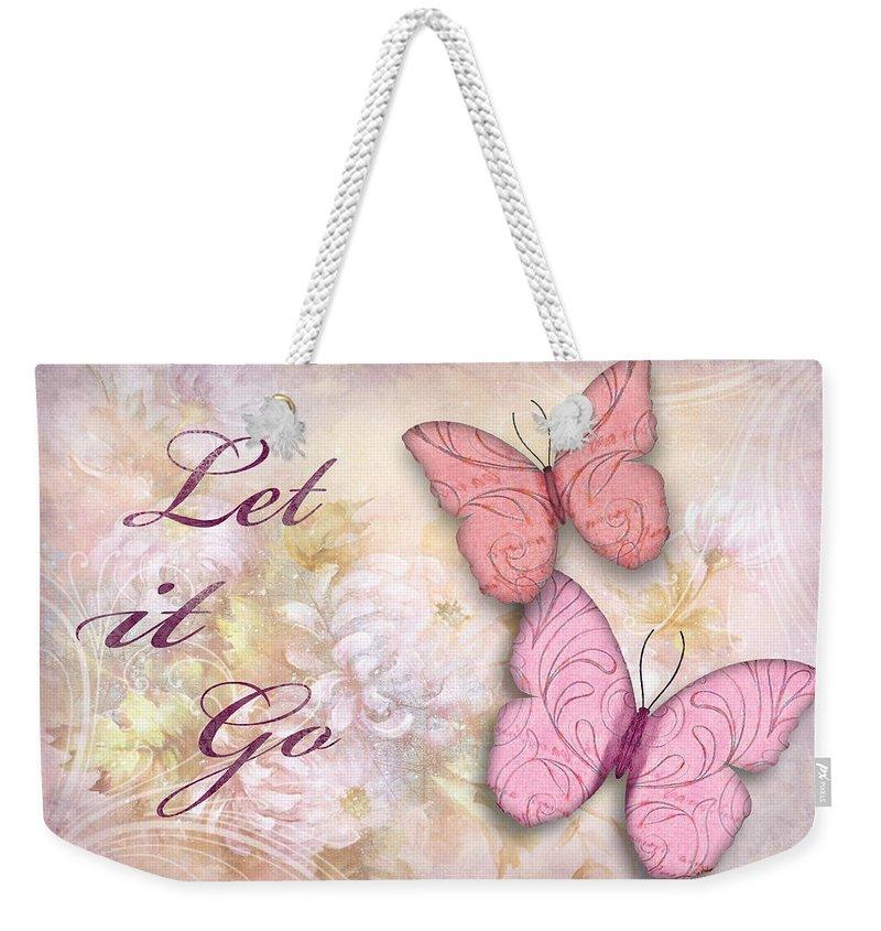 3d Weekender Tote Bag featuring the digital art Let It Go by Nina Bradica