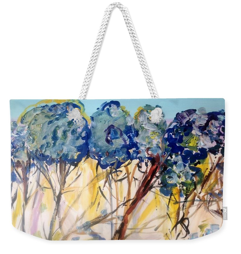 Nature Weekender Tote Bag featuring the painting Let Me Wander In Nature by Judith Desrosiers