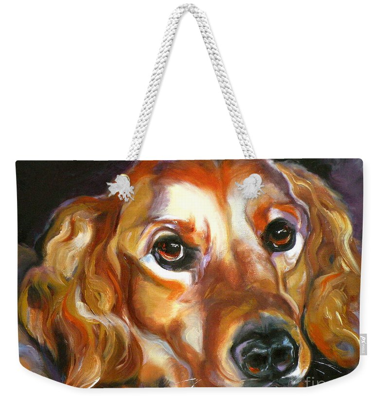 Oil Weekender Tote Bag featuring the painting Let The Sunshine In by Susan A Becker