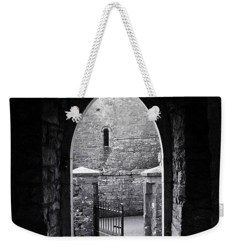 Irish Weekender Tote Bag featuring the photograph Let There Be Light Cong Church And Abbey Cong Ireland by Teresa Mucha