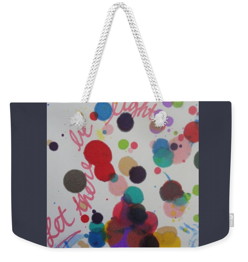 Light Weekender Tote Bag featuring the painting Let There Be Light by Vonda Drees