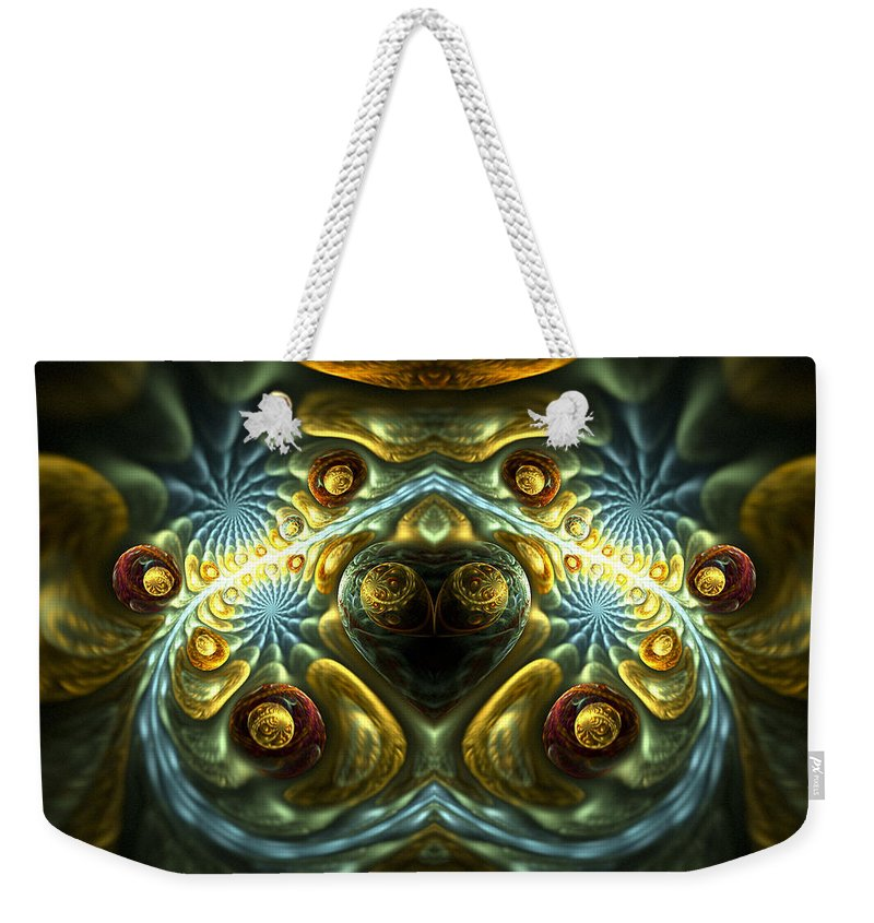 Fractal Weekender Tote Bag featuring the digital art Let Your Feelings Flow by Amorina Ashton