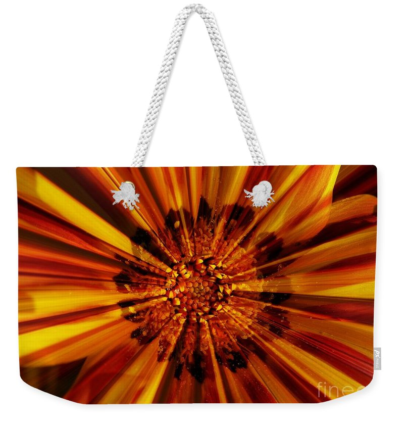 Nature Abstract Weekender Tote Bag featuring the photograph Let Your Light Shine by Carol Groenen