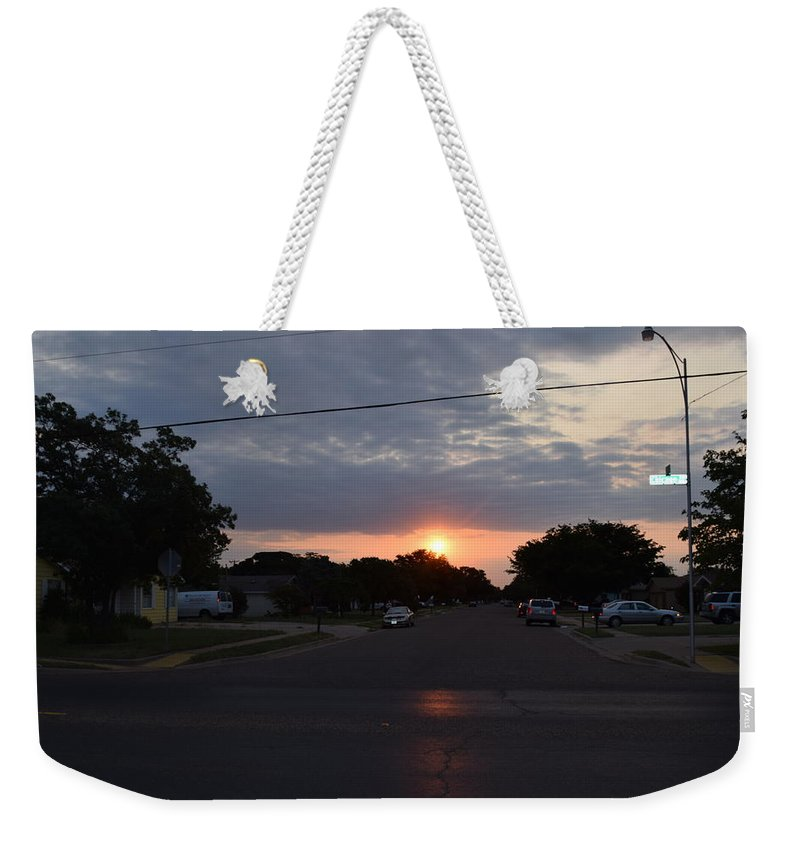 Good Morning Weekender Tote Bag featuring the photograph Let's Get Moving by Charla Harrison