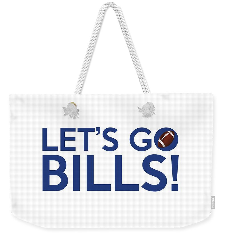 Buffalo Bills Weekender Tote Bag featuring the painting Let's Go Bills by Florian Rodarte