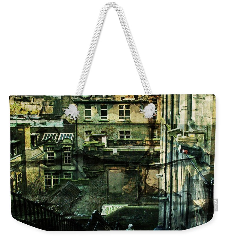 Architecture Weekender Tote Bag featuring the photograph Lets Go Down Together by Dorit Fuhg