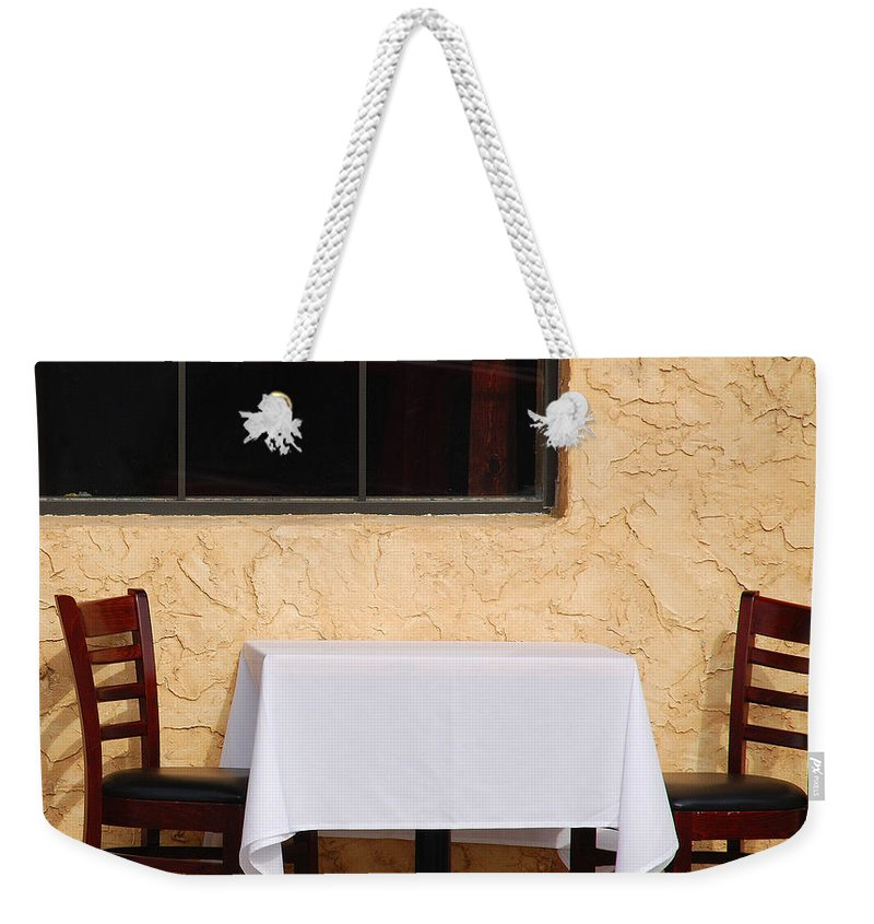 Abstract Weekender Tote Bag featuring the photograph Lets Have Lunch Together by Susanne Van Hulst
