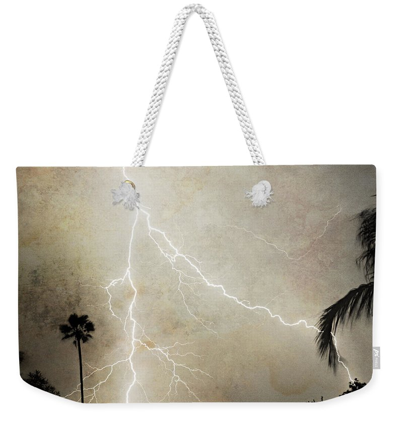 Lightning Weekender Tote Bag featuring the photograph Let's Split by James BO Insogna