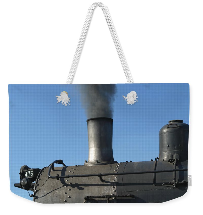 Strasburg Railroad Weekender Tote Bag featuring the photograph Letting Off Some Steam by Living Color Photography Lorraine Lynch