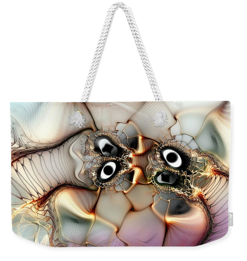 Abstract Weekender Tote Bag featuring the digital art Lexicon Of The Visionary by Casey Kotas