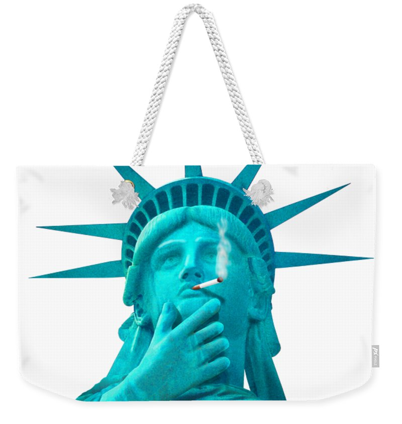 T-shirt Weekender Tote Bag featuring the photograph Liberated Lady 3 by Mike McGlothlen