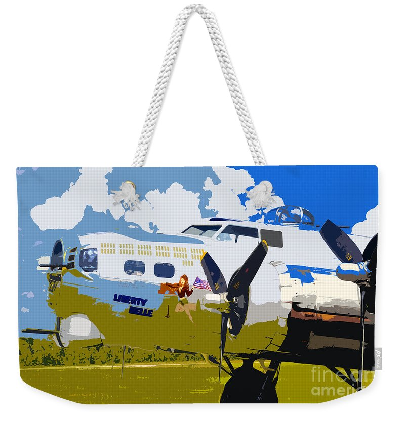 Flying Fortress Weekender Tote Bag featuring the photograph Liberty Belle by David Lee Thompson
