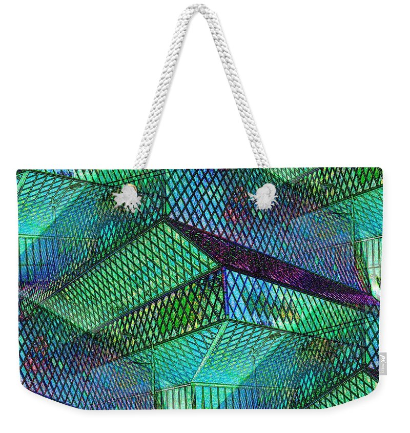 Seattle Weekender Tote Bag featuring the photograph Library Angles by Tim Allen