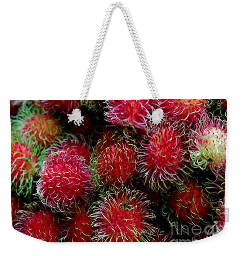 Lichee Weekender Tote Bag featuring the photograph Lichee by Dragica Micki Fortuna