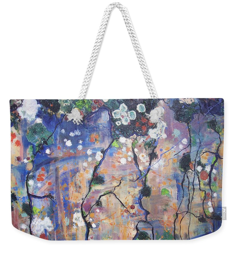Lichen Paintings Weekender Tote Bag featuring the painting Lichen by Seon-Jeong Kim