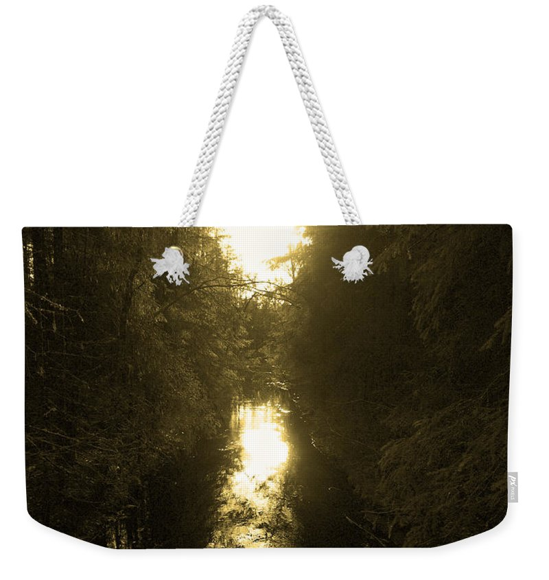 Lehtokukka Weekender Tote Bag featuring the photograph Liesijoki 3 by Jouko Lehto