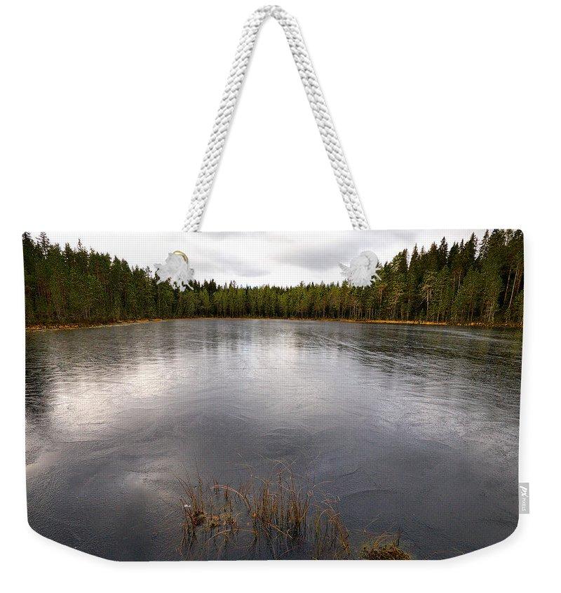 Lehtokukka Weekender Tote Bag featuring the photograph Liesilampi by Jouko Lehto