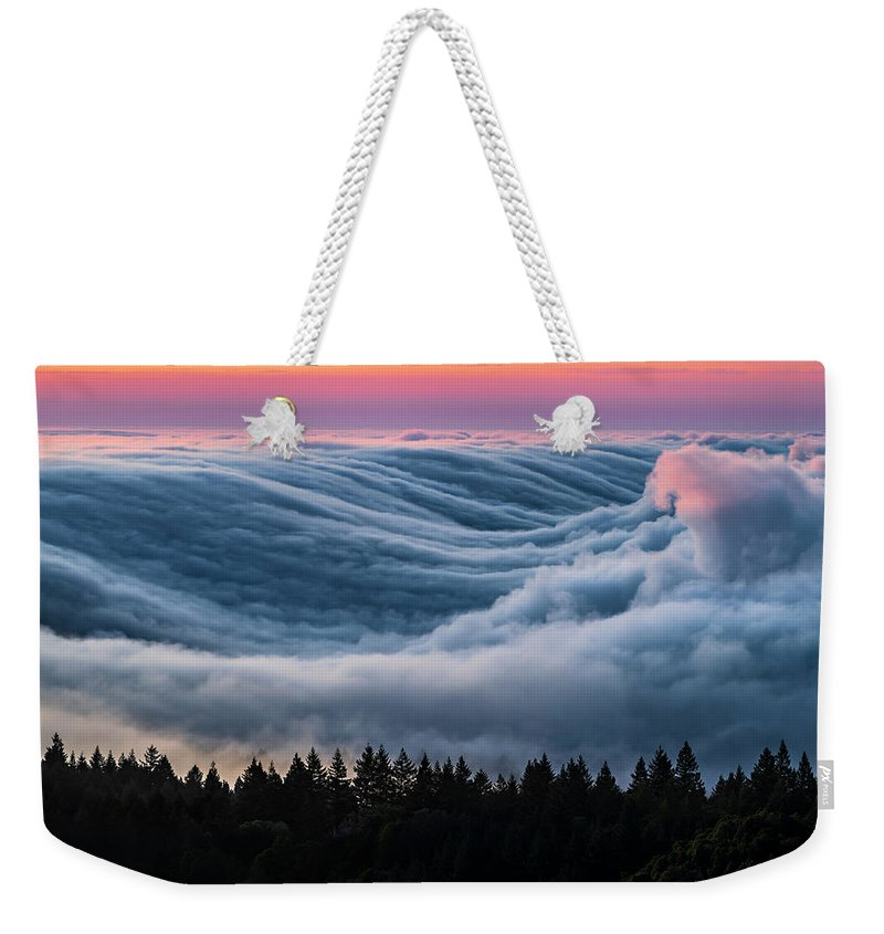 Cloud Inversion Weekender Tote Bag featuring the photograph Life Above The Clouds by Alexander Davidovich
