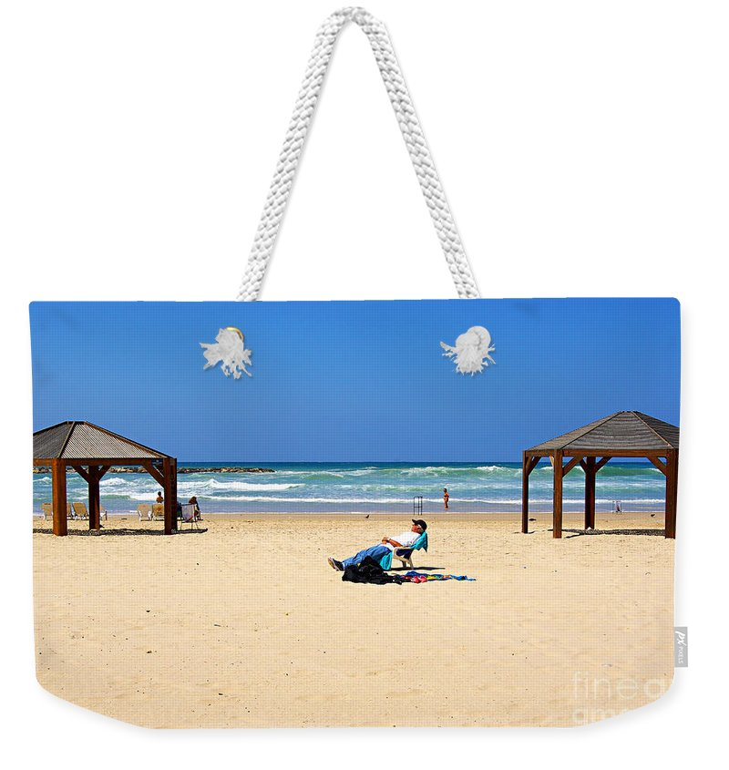 Beach Weekender Tote Bag featuring the photograph Life After 60.. by Zal Latzkovich
