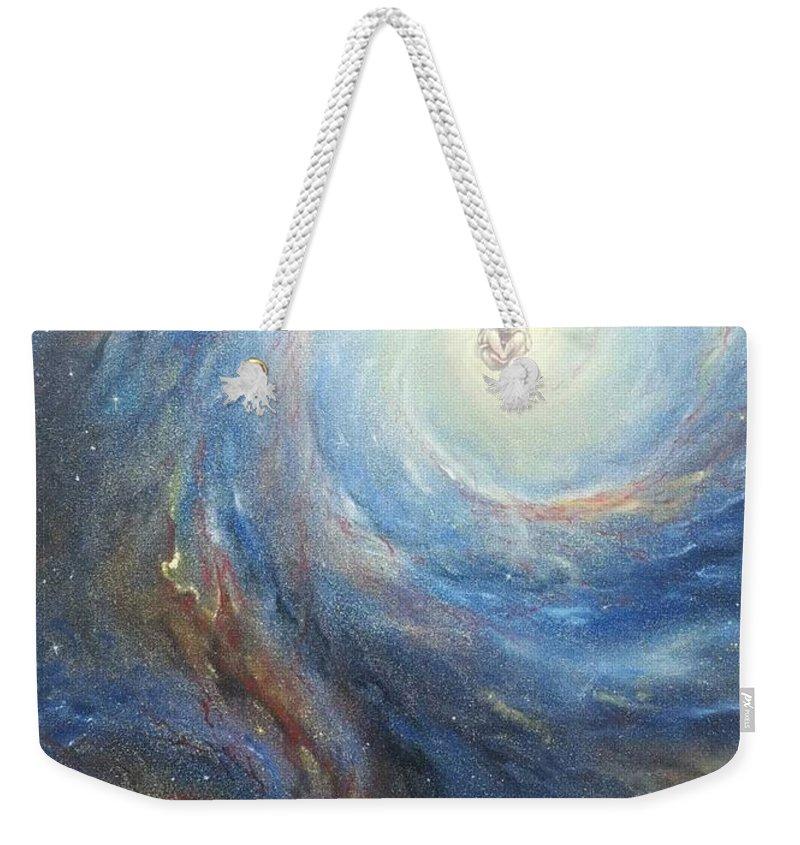 Stardust Weekender Tote Bag featuring the painting Life by Alexandru Burca