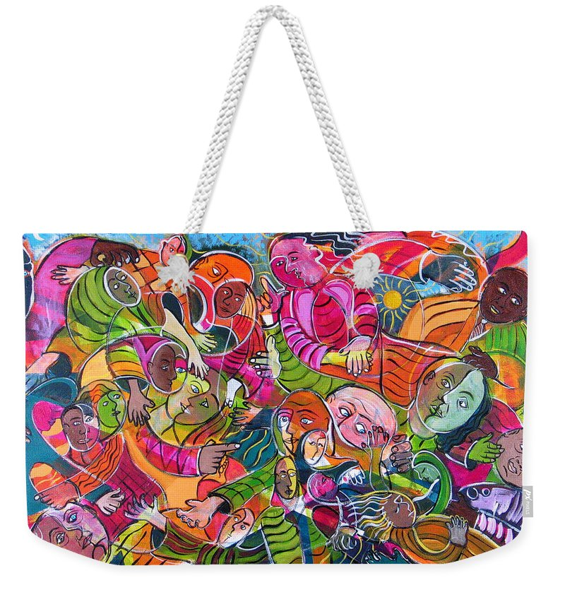 Life Weekender Tote Bag featuring the painting Life And Death by Rollin Kocsis