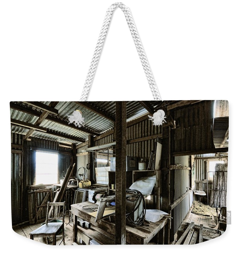 Shed Weekender Tote Bag featuring the photograph Life As A Shed by Wayne Sherriff