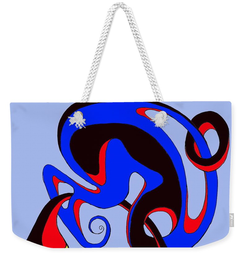 \ Weekender Tote Bag featuring the digital art Life Circuits by Helmut Rottler