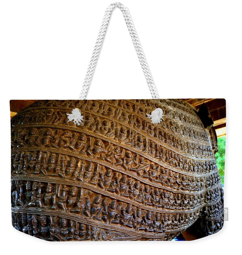 India Weekender Tote Bag featuring the sculpture Life Customs Chain by Abhishek Niranjan