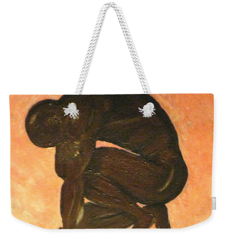 Humans Weekender Tote Bag featuring the painting Life by Debbie Levene