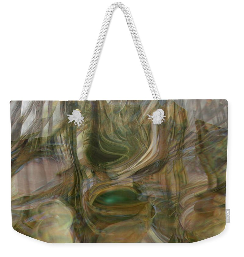 Abstract Art Weekender Tote Bag featuring the digital art Life Forms by Linda Sannuti