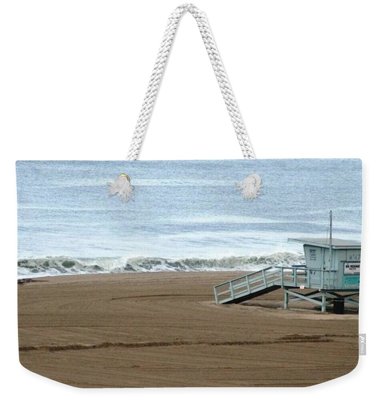 Beach Weekender Tote Bag featuring the photograph Life Guard Stand - Color by Shari Chavira