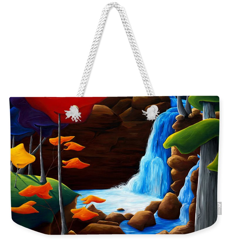 Landscape Weekender Tote Bag featuring the painting Life In Progress by Richard Hoedl