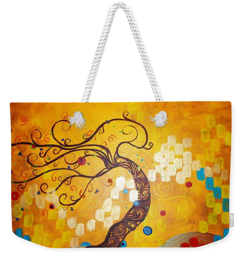 Weekender Tote Bag featuring the painting Life Is A Ball by Stefan Duncan