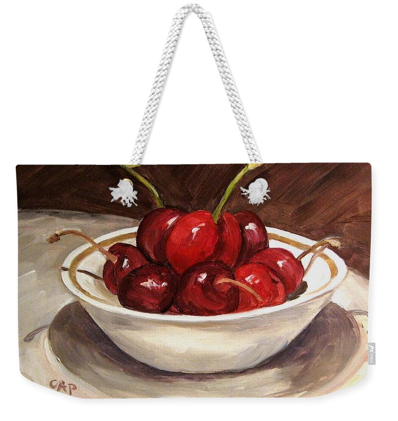 Contemporary Realism Weekender Tote Bag featuring the painting Life Is Just A.... by Cheryl Pass