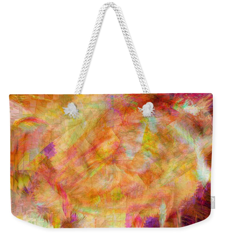 Abstracts Weekender Tote Bag featuring the digital art Life by Linda Sannuti